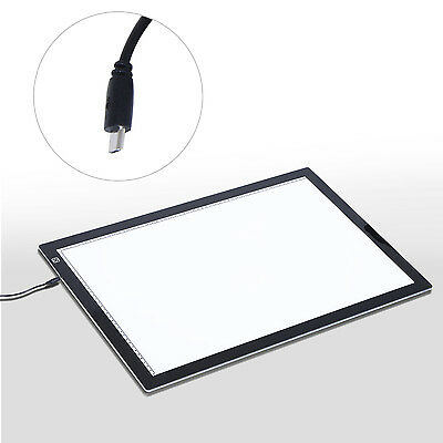 HOMCOM A3 Painting Board LED Tracing Drawing Pad Dimmer Light Box Ultra Slim NEW