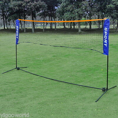 Foldable 3M Beach Volleyball Badminton Net Sports Net With Frame Stand Portable