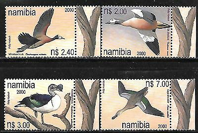 NAMIBIA 2000 DUCKS COMPLETE SET OF 4 Sc#955-8 MNH 745