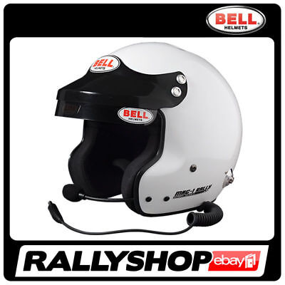BELL HELMET MAG-1 RALLY size XL 61+ cm White OPEN FACE HANS Peltor Intercom