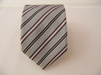 100% Pura Seta Silk Tie Seta Cravatta Made In Italy Self Tipped  A4940