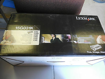 New Lexmark Black Laser Toner Cartridge 15G031K
