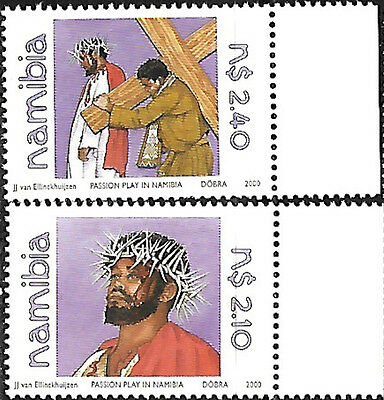 NAMIBIA 2000 PASSION PLAY COMPLETE SET OF 2 Sc#965-6 MNH 3001