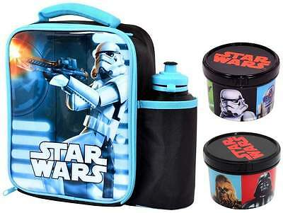 Star Wars Stormtrooper Lunch Bag/Box + Bottle Set with Sandwich Box + Snack Pot