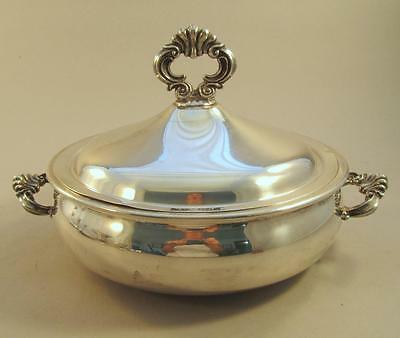 Ornate Silver Plated Covered Bowl Rogers