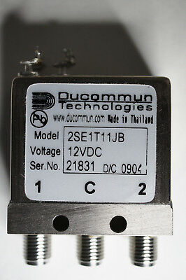 Ducommun 2SE1T11JB 12VDC latching spdt sma relay   Ships in USA Tomorrow!
