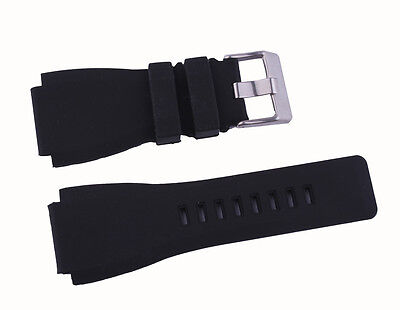 New Quality Soft Silicone Rubber Diver Watch Band Strap For Bell & Ross BR-01