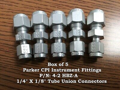 LOT OF 5 * Parker * Cpi 8F-Q8P-Ss * Male Quick Coupling