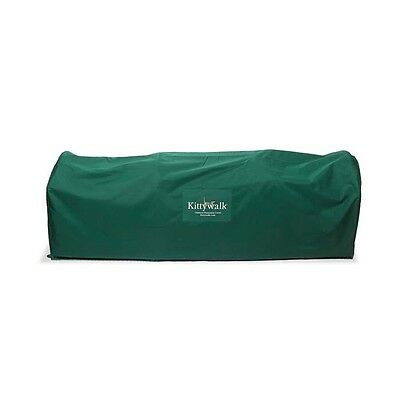 """Kittywalk Outdoor Protective Cover for Kittywalk Deck and Patio Green 72"""" x 18"""""""