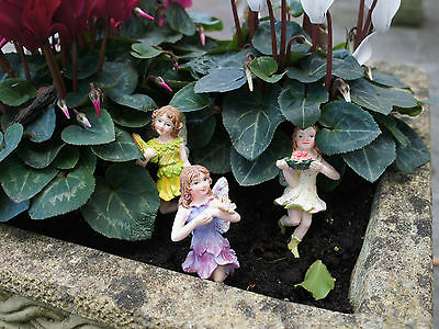 Large Fairy Plant Pot Hangers -  Lovely Details - Set Of Three - New