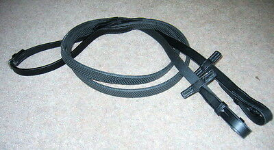 Stubben CTD German Leather Flexible Everyday Pimple Strong Rubber Grip Reins NEW