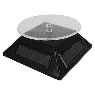 Solar Powered Black Small Spinning Display Turntable