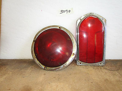 Tail Light Guide R8-53 Red Lens 5941749 1965 IHC Model 00-8190 Fire Truck