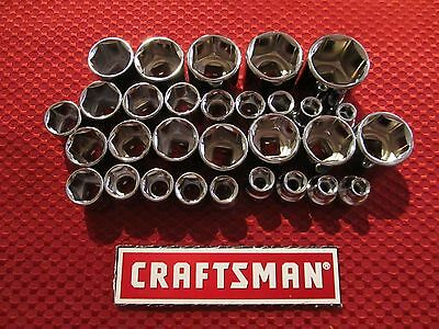 """Craftsman - 3/8"""" Drive 6 Point Sockets - Metric and SAE - Choose Size - NEW"""