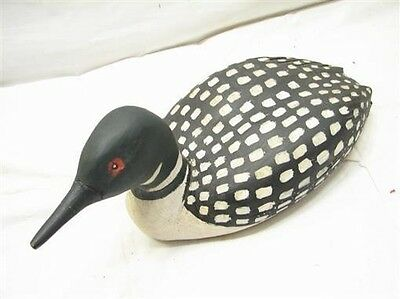 Hand Carved/Painted Wooden Loon Duck Decoy Bird Waterfowl Model 1990