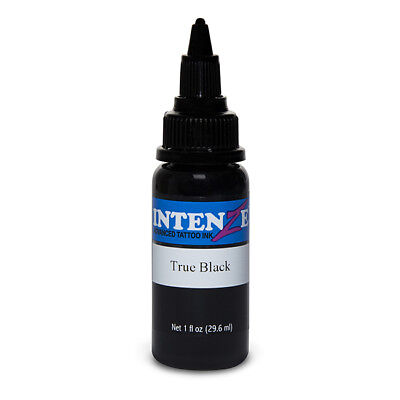 True Black - Intenze Tattoo Ink - Pick Your Size 1/2oz, 1oz, 2oz, or 4oz Bottle