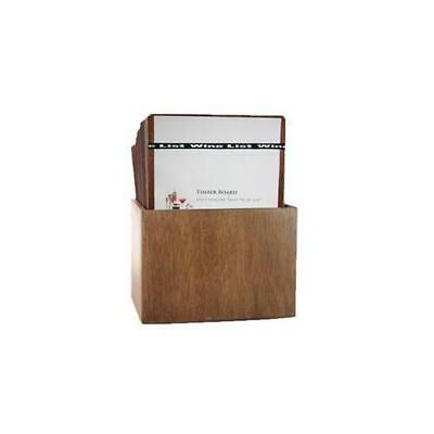 Wooden Menu Boards, A4 w Wine List Band & Storage Box, Set of 15 Menus, Cafe