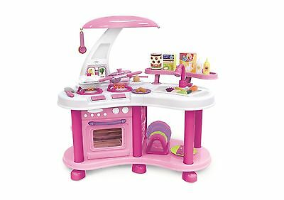 Kids Girls Kitchen Toy Role Play Set Children Pretend Cooker Cooking Food Game