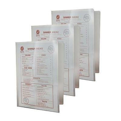 10x Poly Menu Cover, A4 with 2 Pockets, Cafe / Bar / Bistro / Restaurant Menus