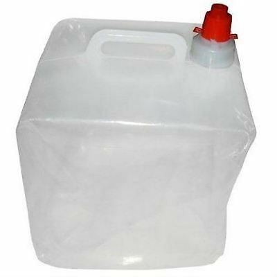 Folding Water Carrier Bottle Container 10 Litre Portable Tank Caravan Camping