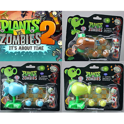 Plants vs. Zombies 2 Lovely Snow Pea Coconut Cannon Peashooter Figure Toy Gift