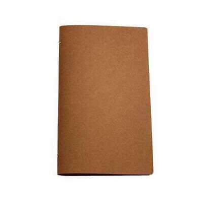 Deluxe Tuscan Leather Menu, Natural A4 Narrow w 4 Pockets, Restaurant / Menus