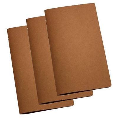 20x Deluxe Tuscan Leather Menu Natural A4 Narrow w 4 Pockets, Restaurant / Menus