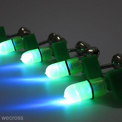 Hot LED Night Fishing Tackle Rod Tip Lure Bite Alarm Double Bells Alerter Ring