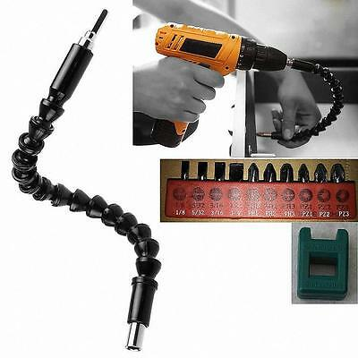 "New 300mm 1/4"" Hex Shank Flexible Shaft Screwdriver Drill Driver Extension Tool"