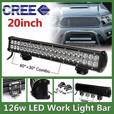 20inch 126w CREE Led Light Bar Combo Work Lamp Offroad Driving Bumper Ford SUV