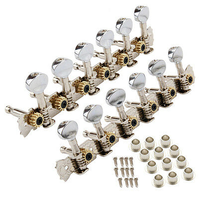 6L6R Chrome 12 String Acoustic Guitar Machine Heads Tuning Pegs