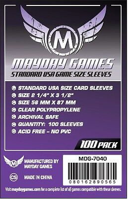 Mayday Standard USA 100 Card Sleeves 56mm x 87mm