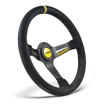 Sabelt SW-465 RFVO2009X Steering Wheel Black Suede 350mm Race Rally