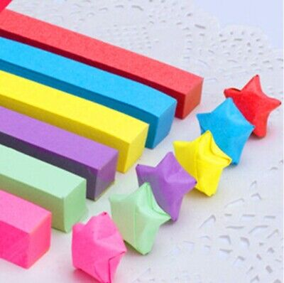 400 x bright color ORIGAMI LUCKY STAR PAPER - 8 color comb lot, first time only