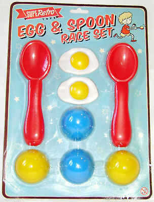 New Egg And Spoon Race Game Set With 2 Spoons And Eggs Sports Day Party Game Ty