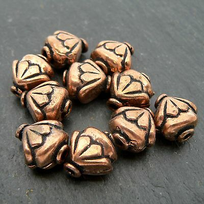Solid Copper Decorative Beads (set of 10 beads)