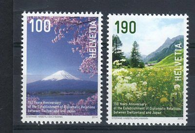 2014 joint issue 100 Years Diplomatic Relations switzerland japan helvetia