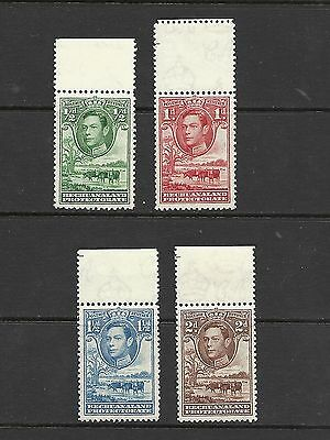 1938 King George VI SG118 - SG121 Short Set Mtd.  Mint BECHUANALAND PROTECTORATE