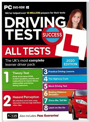 LATEST Driving Theory Tests & Hazard Perception Motorbike/Cars PC DVD 2019 *atPc