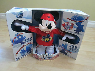 """Fisher-Price Master Moves Mickey Mouse M3 Break Dancing Toy 15"""" Doll Disney 5129"""