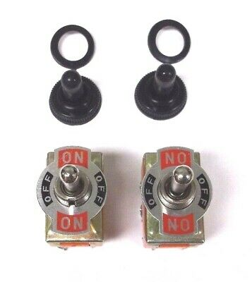 3 BBT 3 Position On//Off//On 12 volt 6 Terminal Toggle Switches /& Boots 20 amp