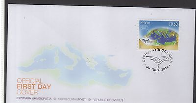 2014 joint issue euromed FDC Cyprus