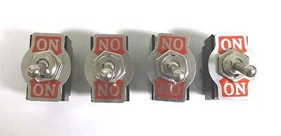 4 BBT Brand 2 Position On/On 12 volt, 20 amp, 6 Terminal Toggle Switches