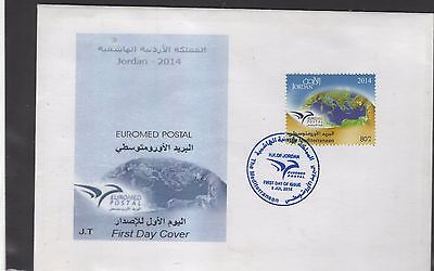2014 joint issue euromed FDC jordan post