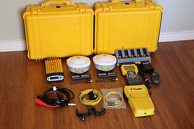 Trimble Dual R8 Model 2 GPS GNSS Glonass Base Rover RTK System w/ TSC2, Trimmark