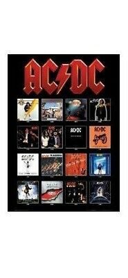 A3 AC/DC ~ ALBUM COVERS 24x36 POSTER Music AC-DC AC DC Back In Black Angus Young