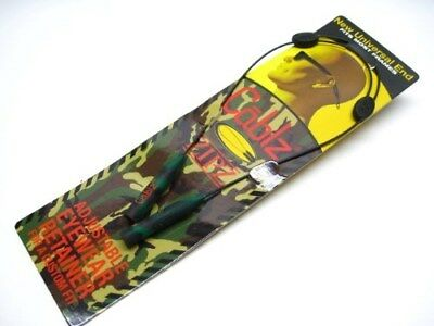 CABLZ Sunglasses Glasses Holder ZIPZ Camo Orange ADJUSTABLE Eyewear Retainer!