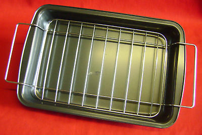 NEW ROASTING TRAY OVEN TIN with RACK. NON STICK 30 x 20cms HARBEN HARBENWARE S