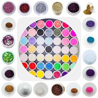 Glitter Powder Pots Makeup Tattoo Eye Shadow Lips Nail Art Dust Metallic Shimmer