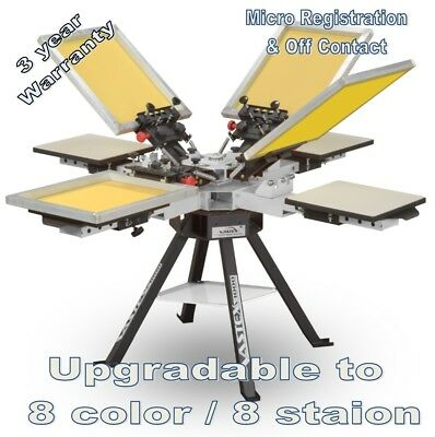 Vastex V-1000 Screen Printing Press 4 Station/4 Color